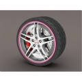 smart car Wheel Rim Protector Set - Pink