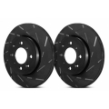 smart car Brake Rotors - Black Slotted Rotors by EBC